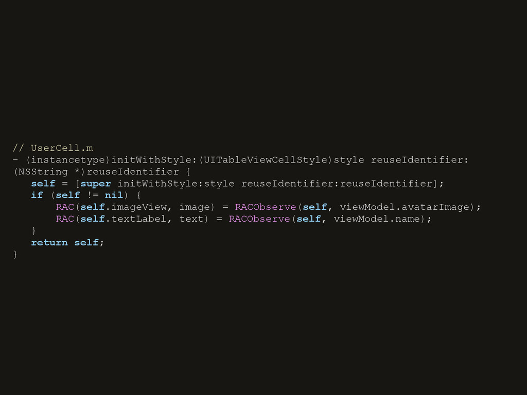 // UserCell.m - (instancetype)initWithStyle:(UI...