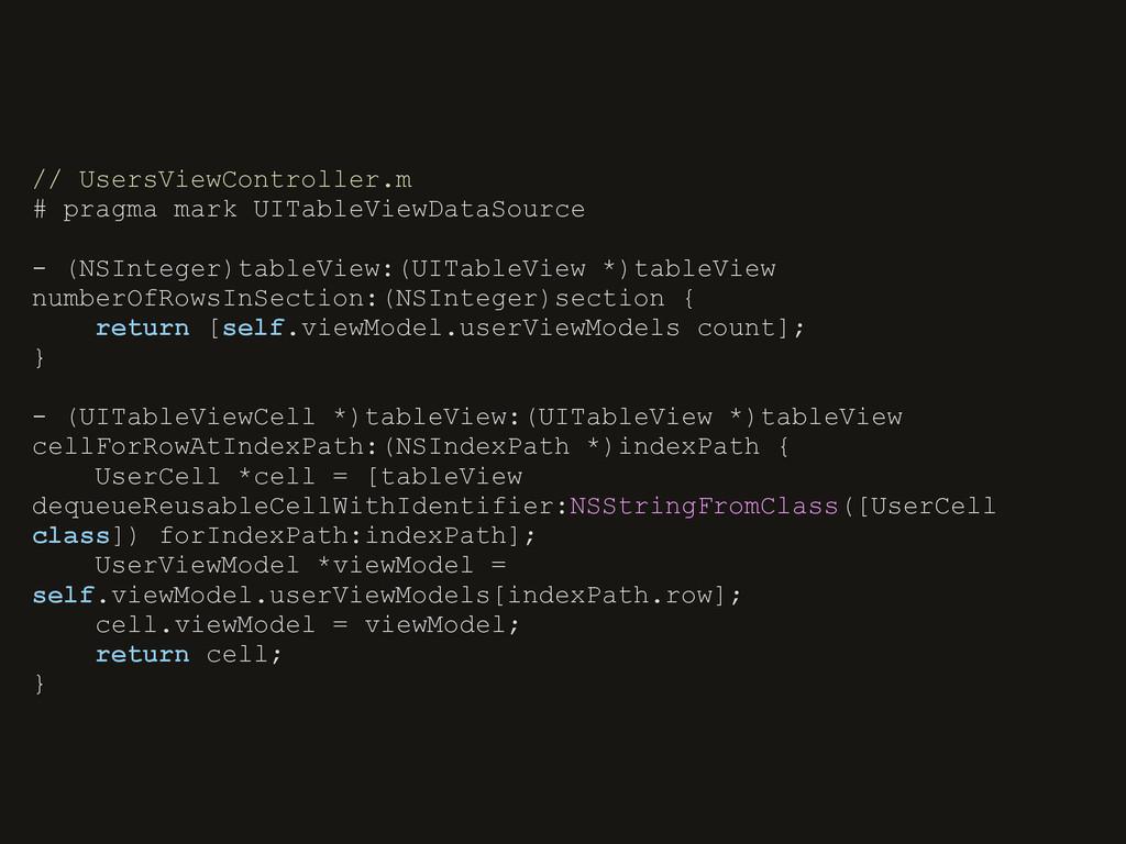 // UsersViewController.m # pragma mark UITableV...