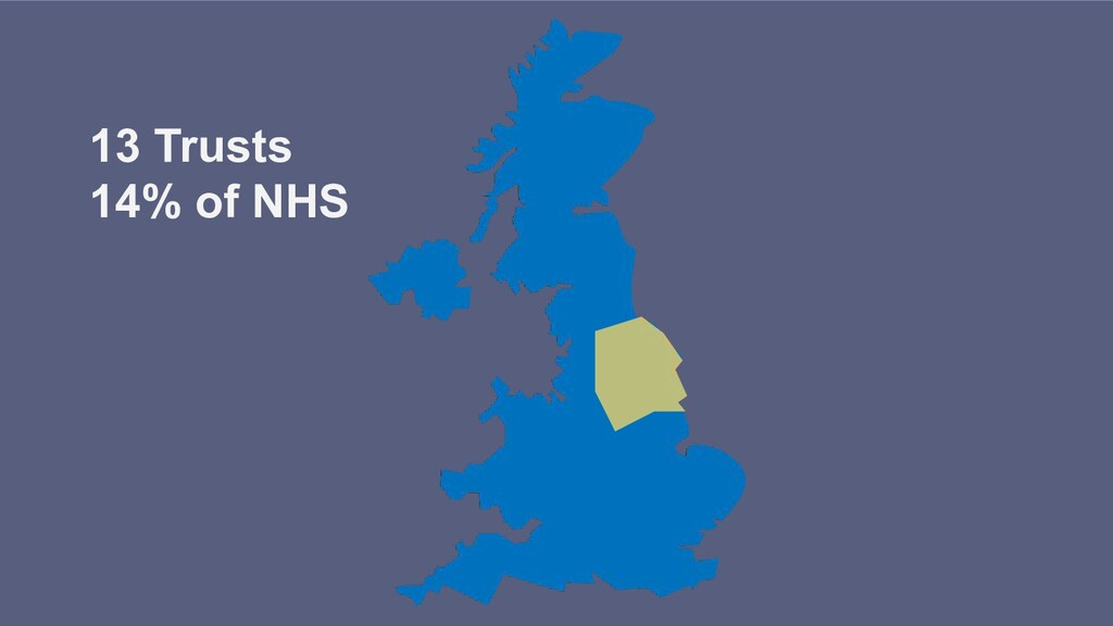 13 Trusts 14% of NHS