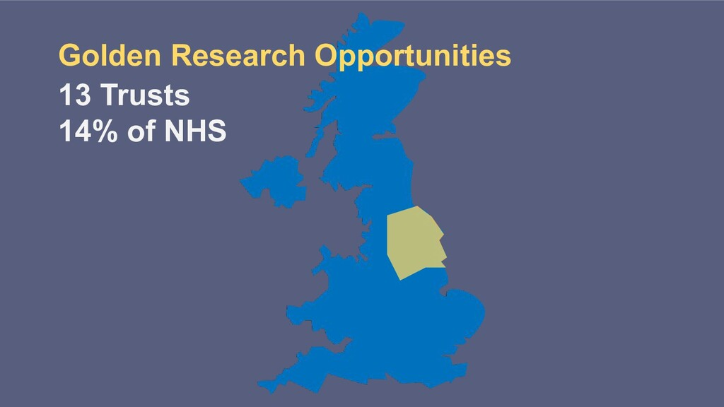 13 Trusts 14% of NHS Golden Research Opportunit...