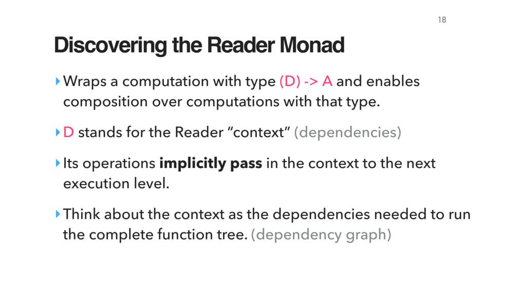 Discovering the Reader Monad ‣Wraps a computati...