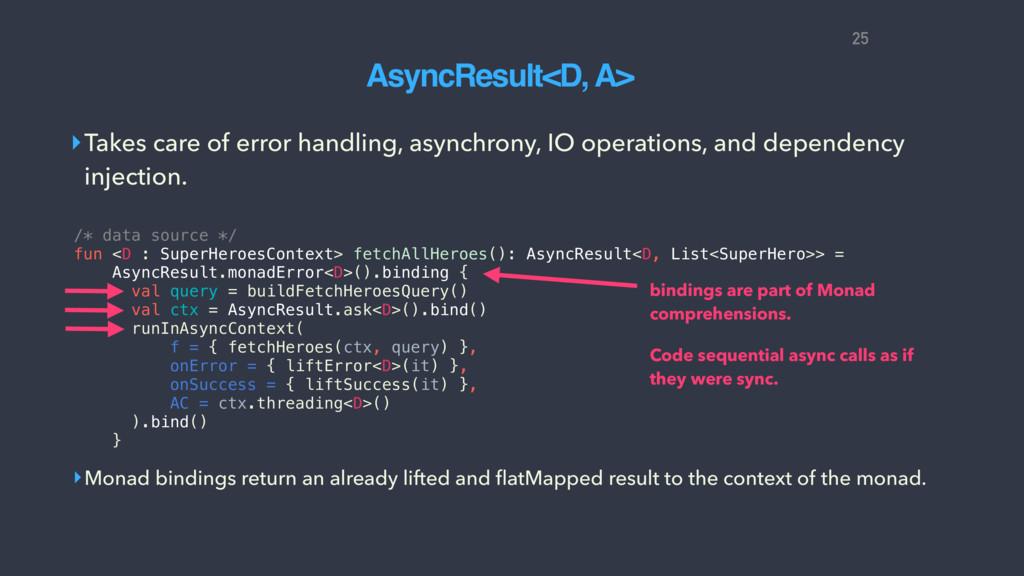 ‣Takes care of error handling, asynchrony, IO o...