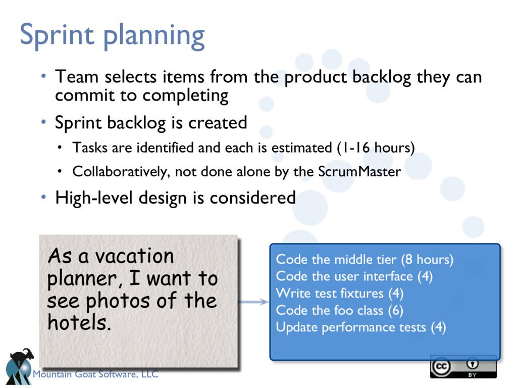 Mountain Goat Software, LLC Sprint planning • T...