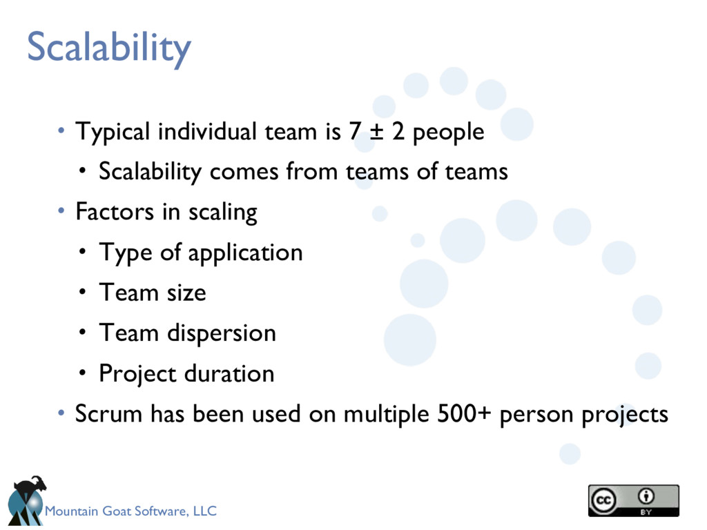 Mountain Goat Software, LLC Scalability • Typic...
