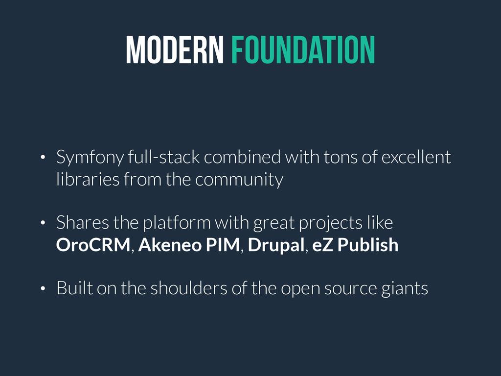 Modern Foundation • Symfony full-stack combined...