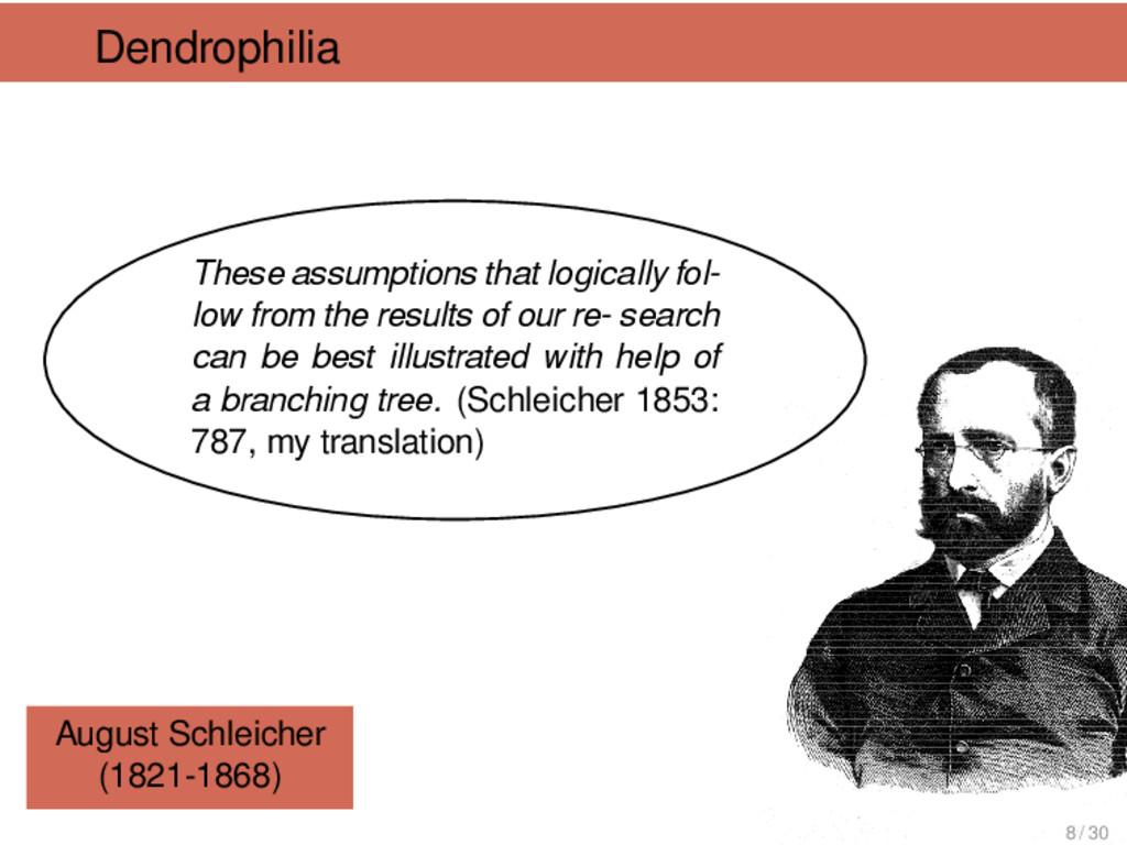 Dendrophilia August Schleicher (1821-1868) Thes...