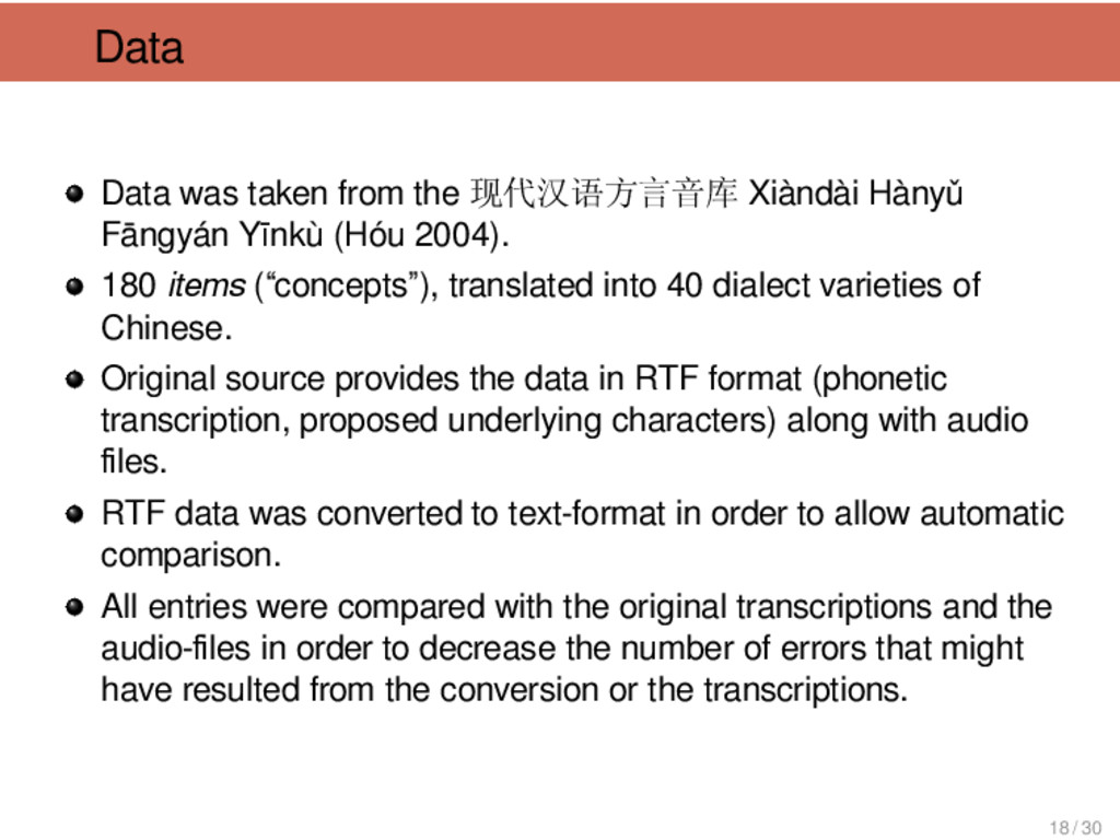 Data Data was taken from the 现代汉语方言音库 Xiàndài H...
