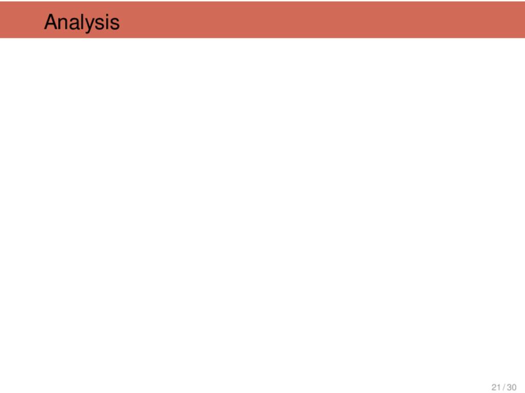 Analysis 21 / 30