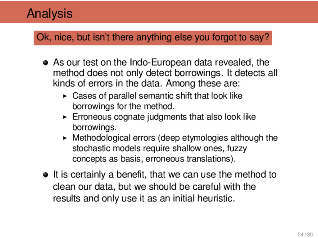 Analysis Ok, nice, but isn't there anything els...