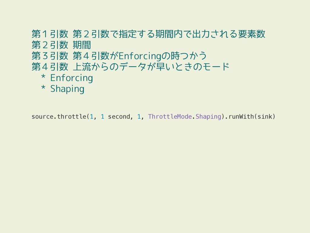 source.throttle(1, 1 second, 1, ThrottleMode.Sh...