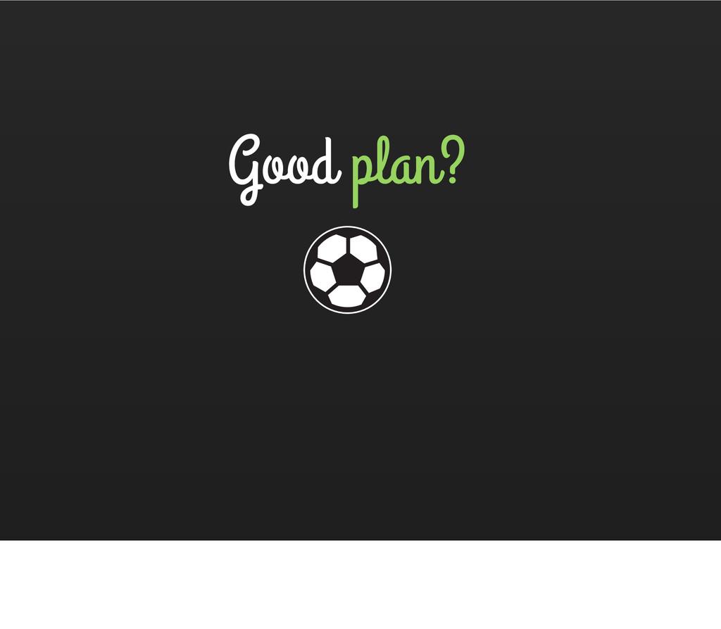 Good plan?