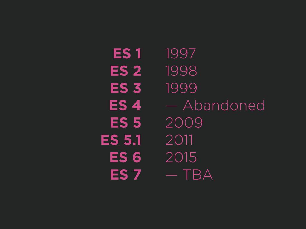 ES 1 ES 2 ES 3 ES 4 ES 5 ES 5.1 ES 6 ES 7 1997 ...