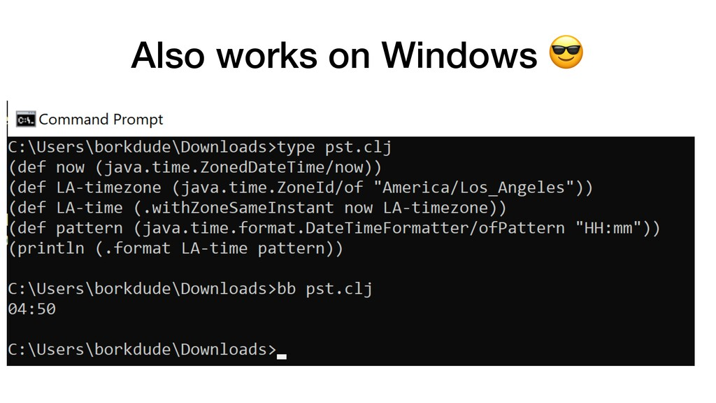 Also works on Windows