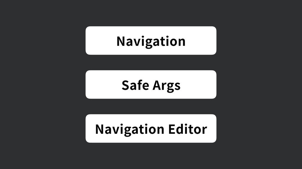 Navigation Safe Args Navigation Editor