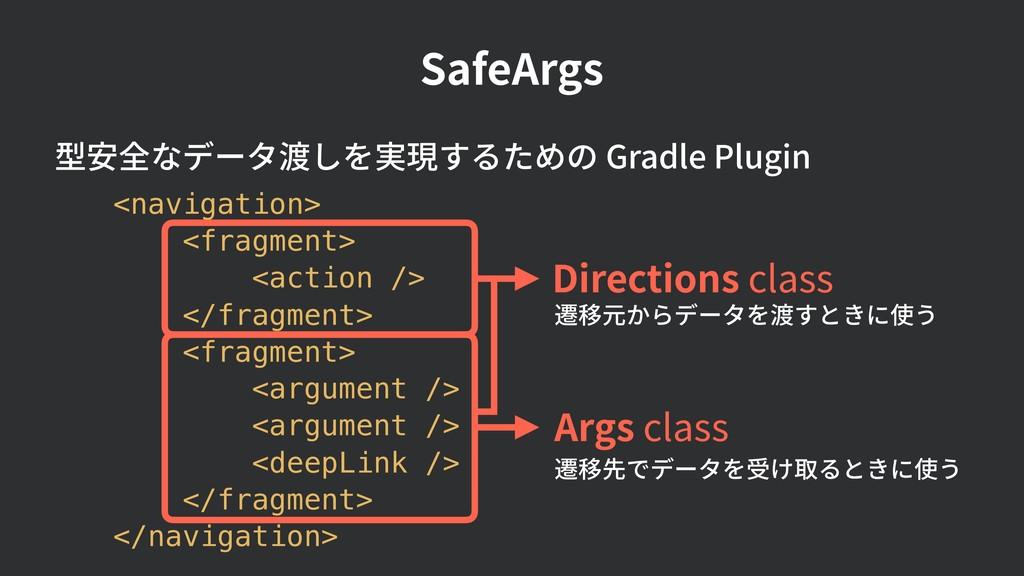 <navigation> <fragment> <action /> </fragment> ...