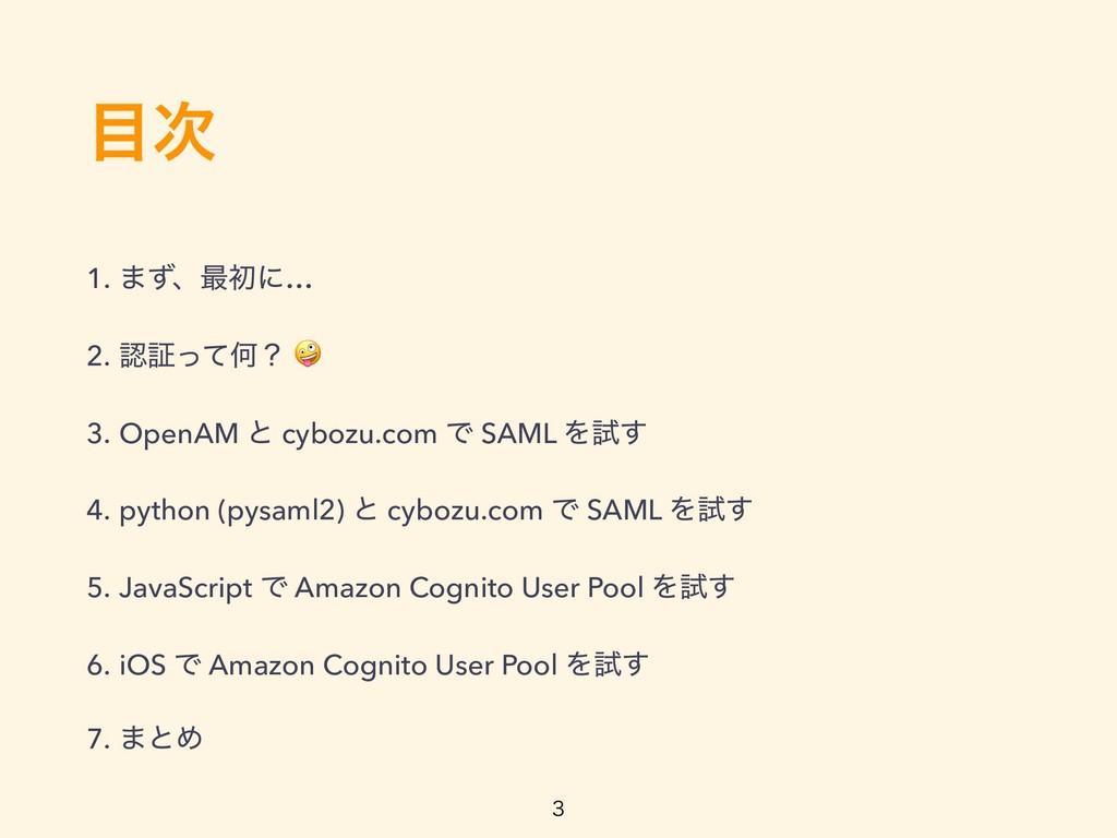 1. ·ͣɺ࠷ॳʹ… 2. ূͬͯԿʁ  3. OpenAM ͱ cybozu.com...