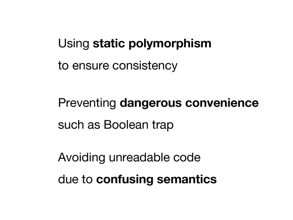 Using static polymorphism to ensure consistency...