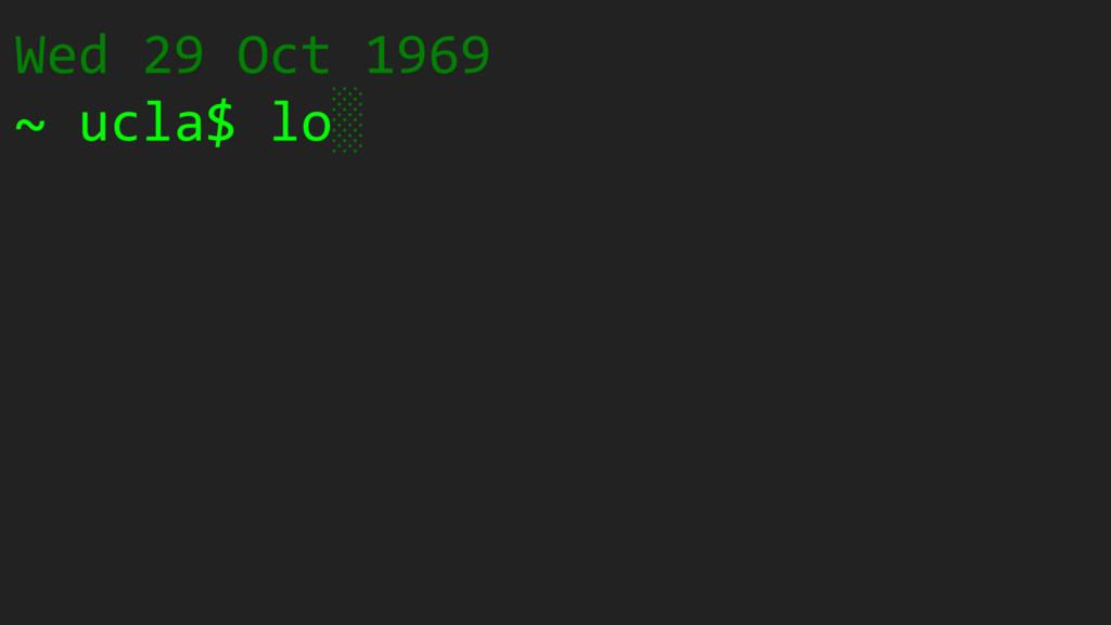 Wed 29 Oct 1969 ~ ucla$ lo ░ ░