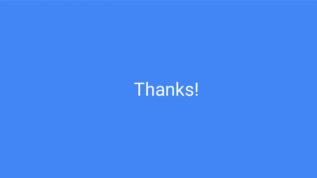 Thanks!