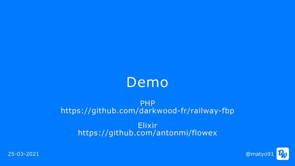 Demo @matyo91 25-03-2021 PHP  https://github.c...