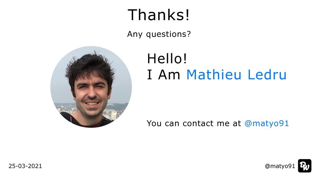Hello!   I Am Mathieu Ledru You can contact me ...