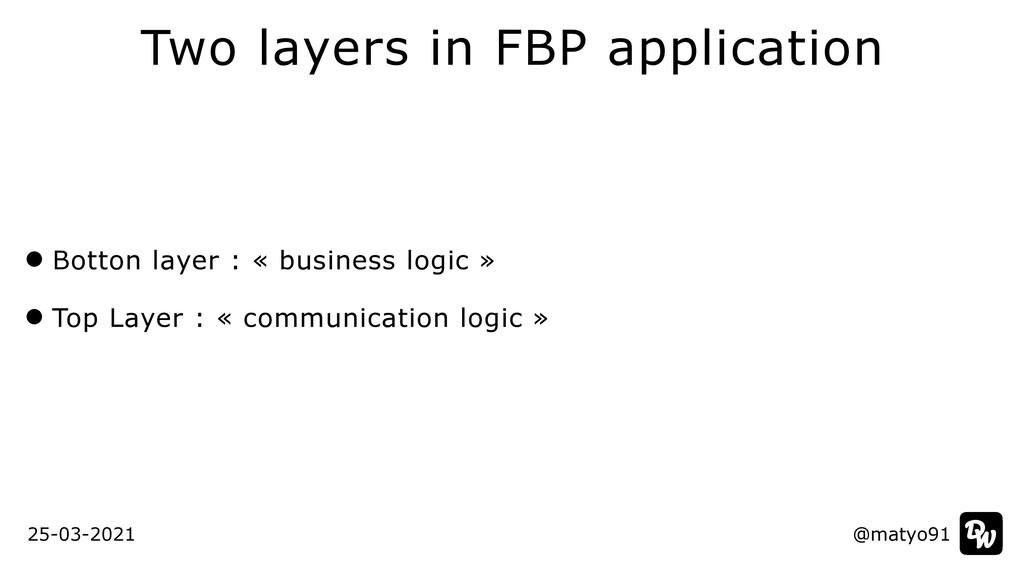 Two layers in FBP application @matyo91 @matyo91...