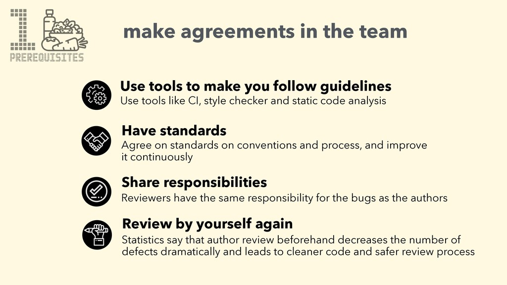 1 make agreements in the team Use tools to make...