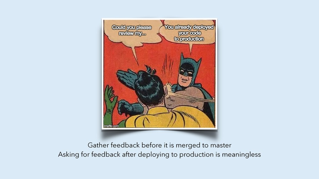 Gather feedback before it is merged to master A...