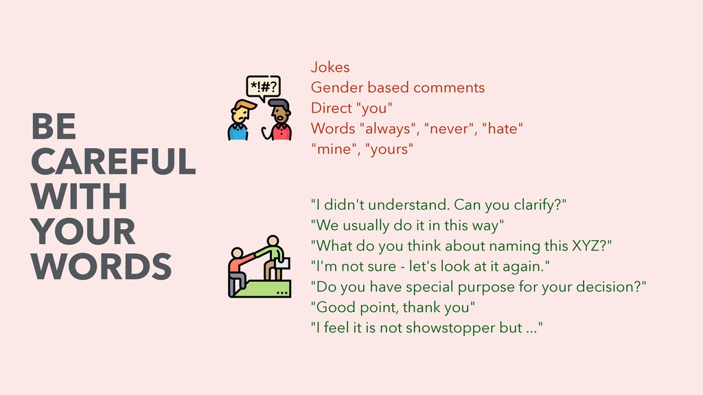 "Jokes Gender based comments Direct ""you"" Words ..."