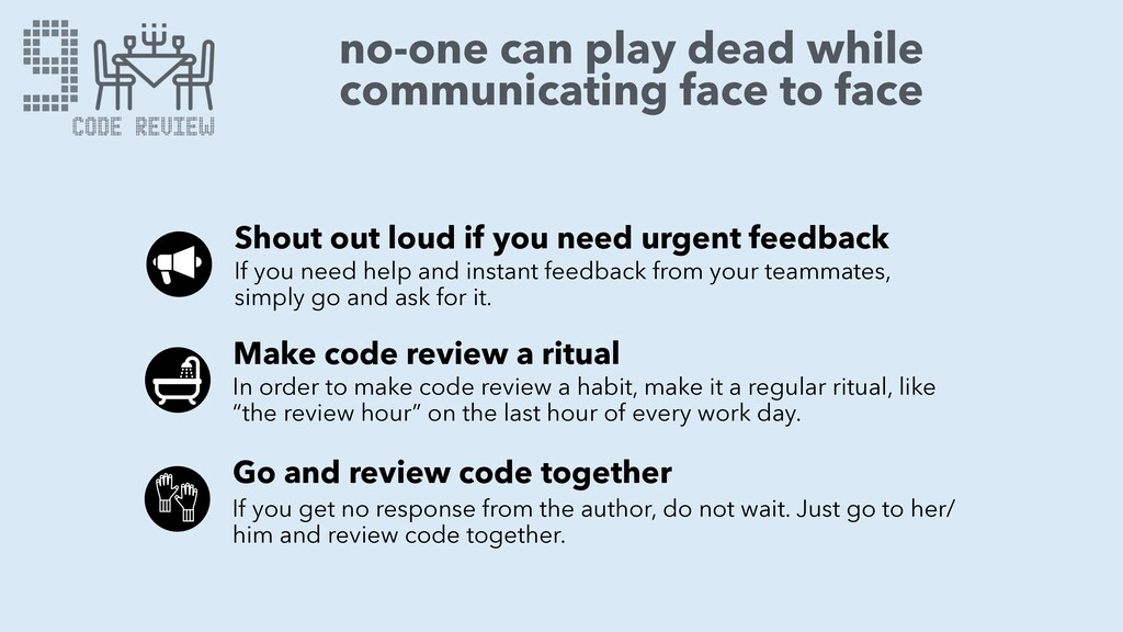 no-one can play dead while communicating face t...