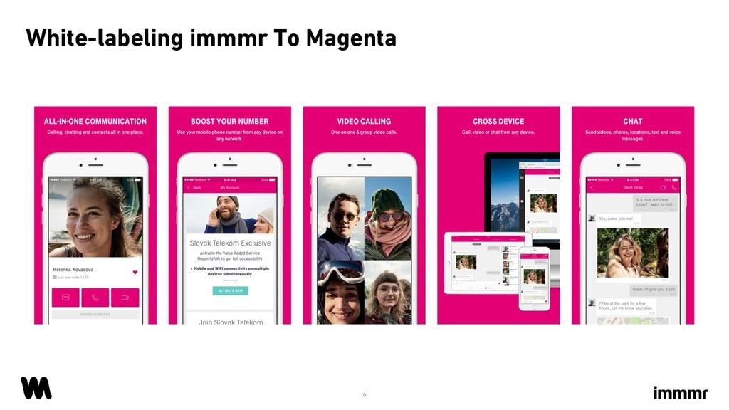 White-labeling immmr To Magenta 6