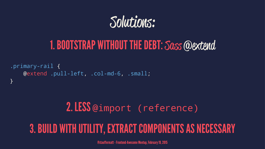 Solutions: 1. BOOTSTRAP WITHOUT THE DEBT: Sass ...