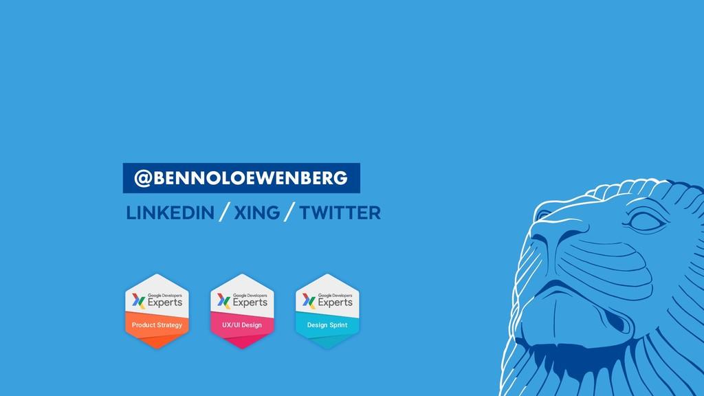 @BennoLoewenberg  BENNOLOEWENBERG LINKEDIN/...