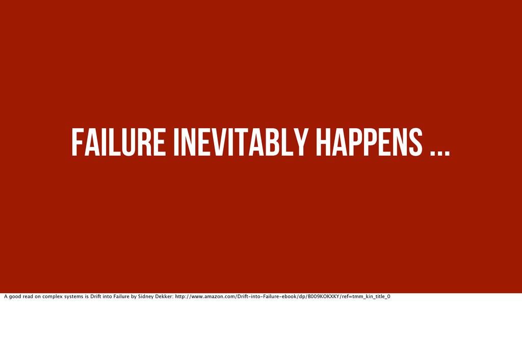 Failure inevitably happens ... A good read on c...