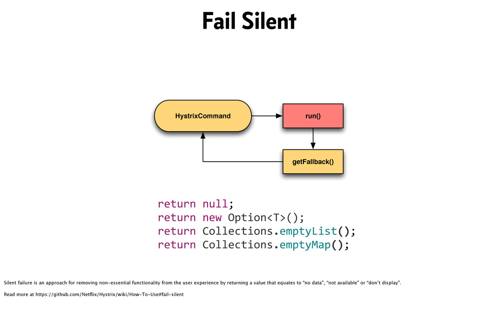 HystrixCommand run() getFallback() return&null;...