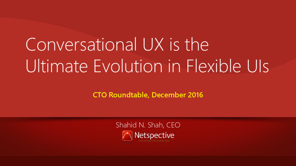 Conversational UX is the Ultimate Evolution in ...