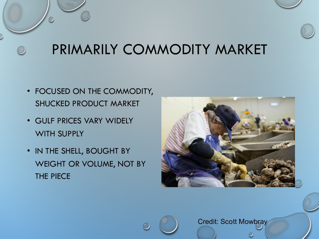 PRIMARILY COMMODITY MARKET • FOCUSED ON THE COM...