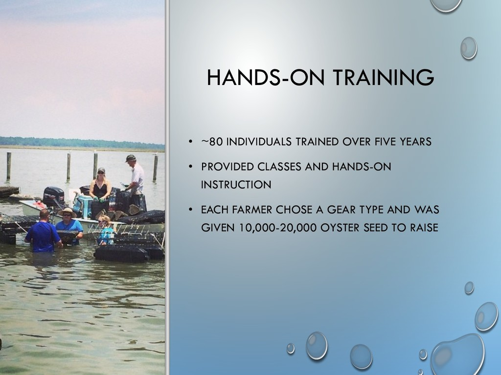 HANDS-ON TRAINING • ~80 INDIVIDUALS TRAINED OVE...