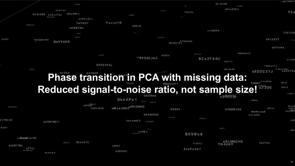 Phase transition in PCA with missing data: Redu...