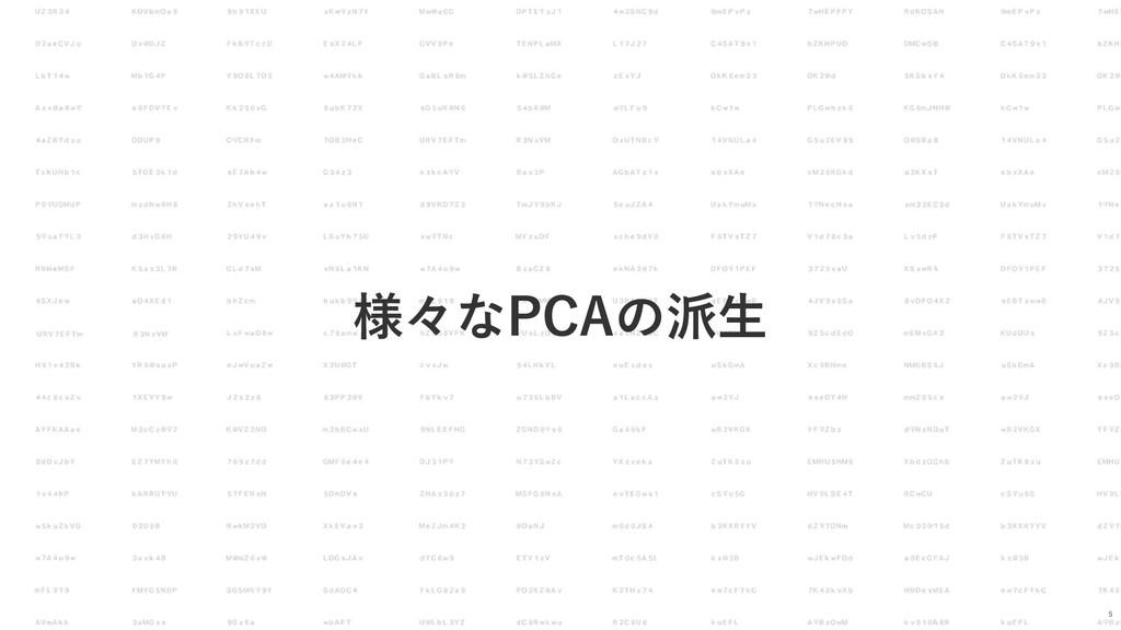 様々なPCAの派⽣ 5