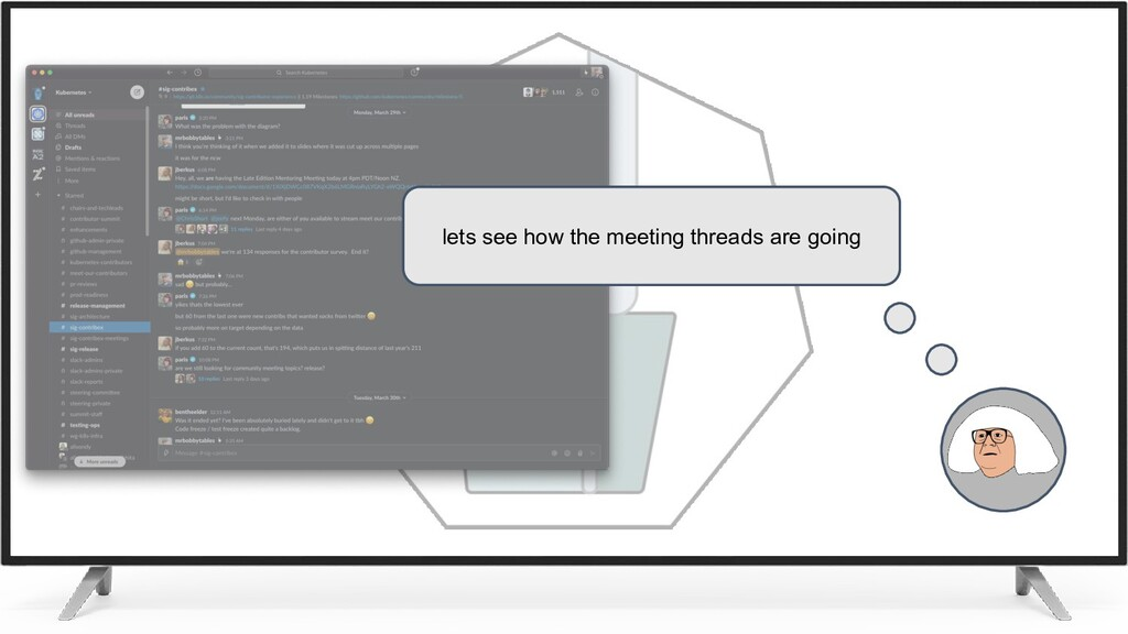 lets see how the meeting threads are going