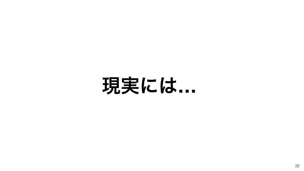 22 ݱ࣮ʹ…