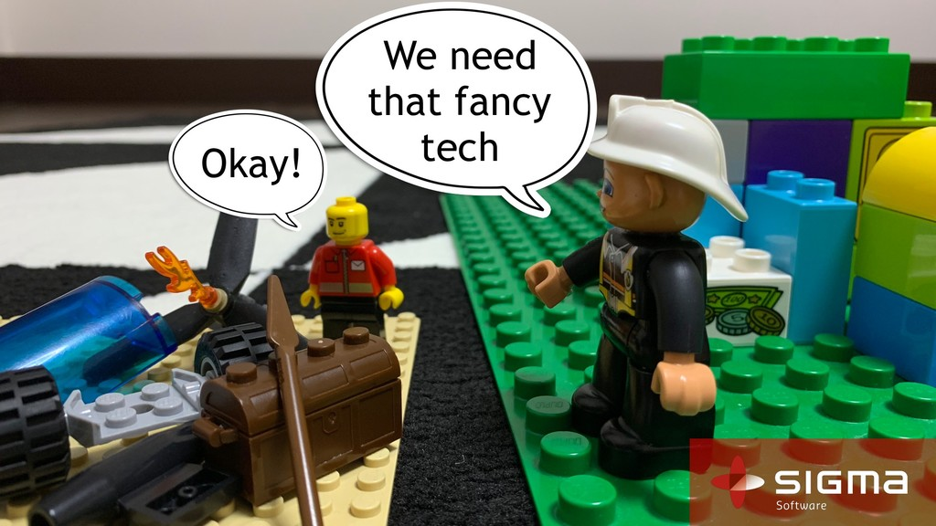 We need that fancy tech Okay!