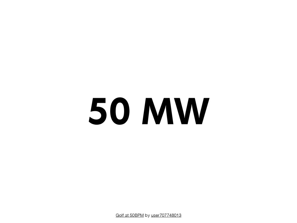 Golf at 50BPM by user707748013 50 MW