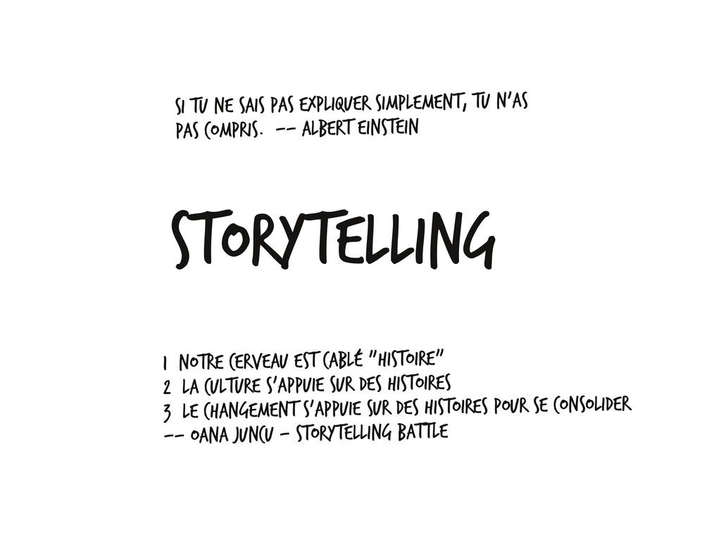 Storytelling Si tu ne sais pas expliquer simple...