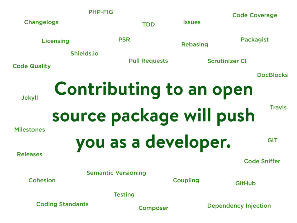 Contributing to an open source package will pus...