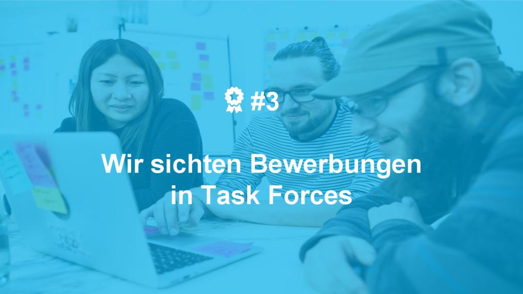 #3 Wir sichten Bewerbungen in Task Forces