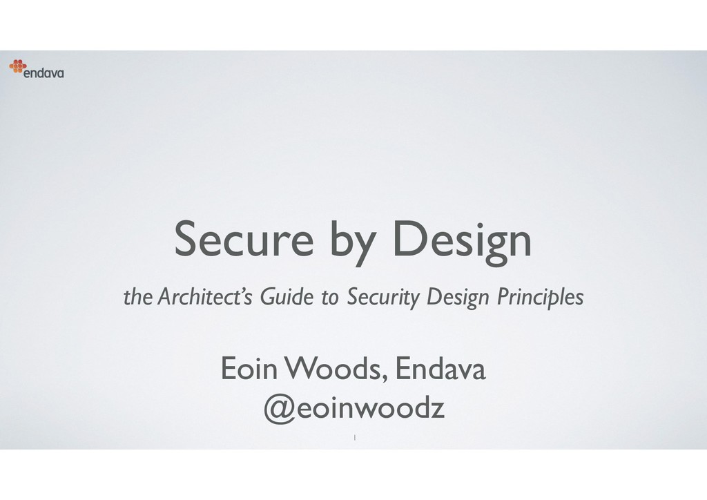 1 Secure by Design the Architect's Guide to Sec...