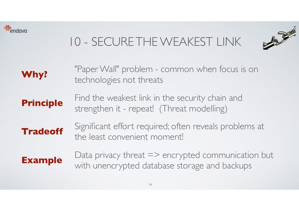 "10 - SECURE THE WEAKEST LINK Why? ""Paper Wall"" ..."