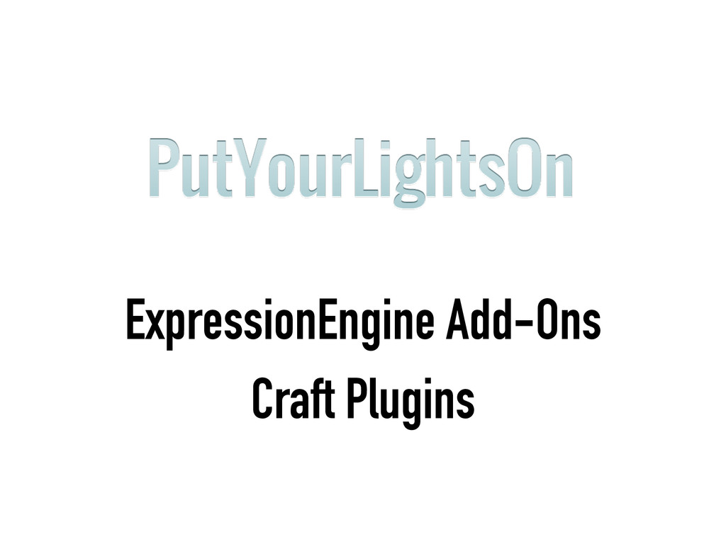 ExpressionEngine Add-Ons Craft Plugins